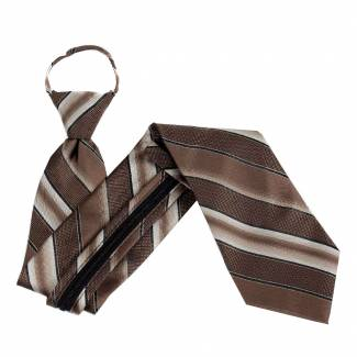 Brown Extra Long Zipper Tie Zipper Ties