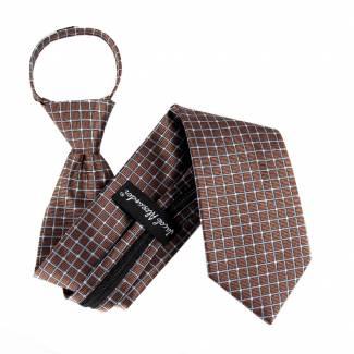 Brown Extra Long Zipper Tie Zipper Ties