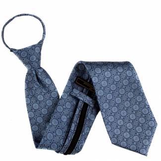 Blue Mens Zipper Tie Regular Length Zipper Tie