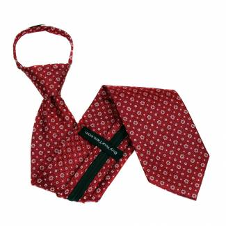 Red Zipper Tie Regular Length Zipper Tie