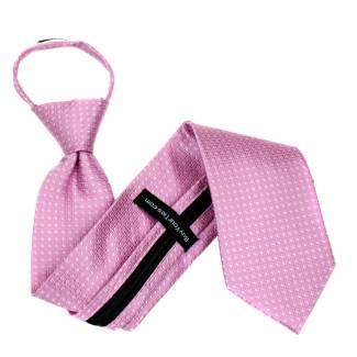Pink Zipper Tie Regular Length Zipper Tie