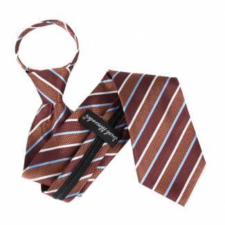 Brown Zipper Tie Regular Length Zipper Tie
