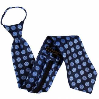 Navy Zipper Tie Regular Length Zipper Tie
