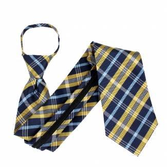 Yellow Zipper Tie Regular Length Zipper Tie