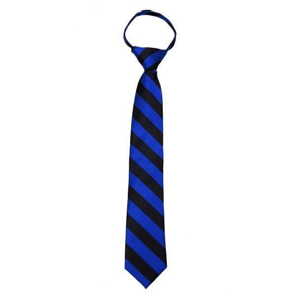 Mens College Stripe Zipper Tie Regular Length Zipper Tie