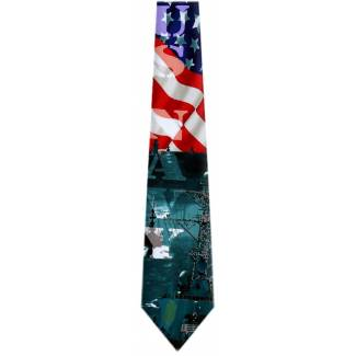 USA Navy Flag Tie Flag Ties