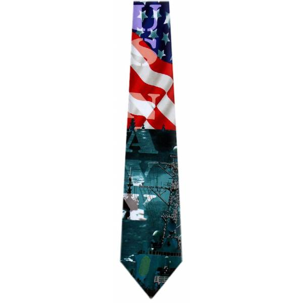 USA Navy Flag Tie Flag Ties