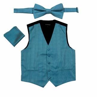 Plaid Vest Bow Tie & Hanky Vest Bow Tie & Hanky