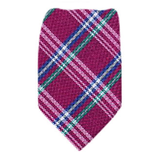 Plaid Extra Long Silk Tie Ties