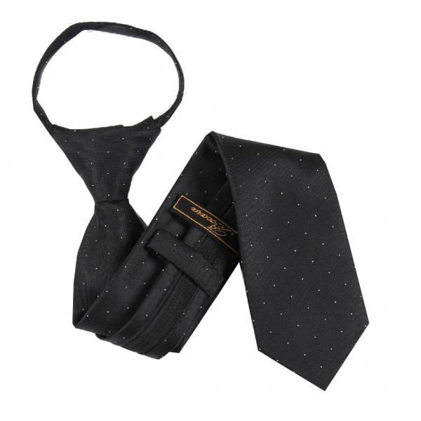Black Boys 14 inch Zipper Tie Zipper Tie 14 inch