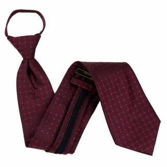 Burgundy Extra Long Zipper Tie Zipper Ties