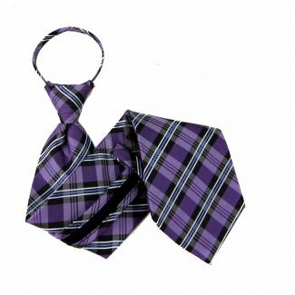 Purple Zipper Tie Regular Length Zipper Tie