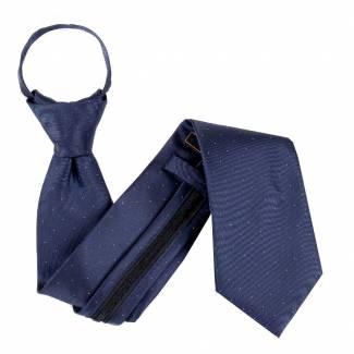 Midnight Navy Zipper Tie Regular Length Zipper Tie