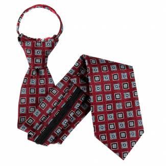 Burgundy Zipper Tie Regular Length Zipper Tie