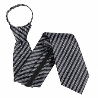 Gray Zipper Tie Regular Length Zipper Tie