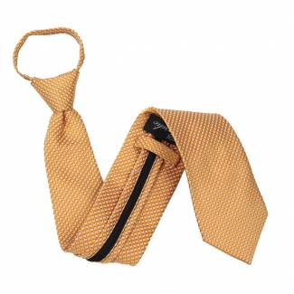 Orange Zipper Tie Regular Length Zipper Tie