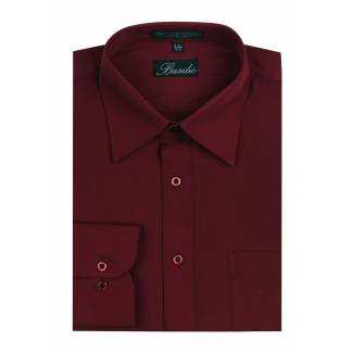 Mens Shirt Burgundy Mens
