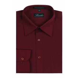 Mens Shirt Burgundy Mens