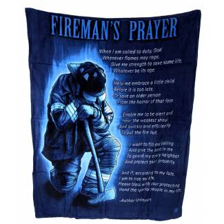 Firemans Prayer Fleece Blanket Fleece Blankets