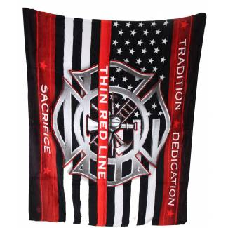 Firefighter Fleece Blanket Fleece Blankets