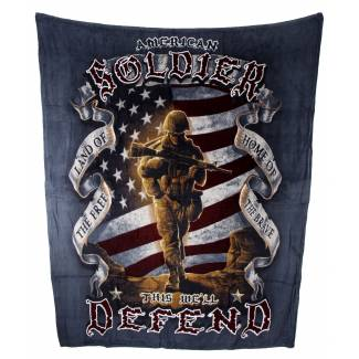 American Soldier Fleece Blanket Fleece Blankets