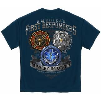 Fireman Police EMT T-Shirt T-Shirts