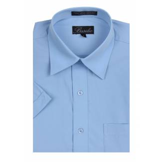 Mens Short Sleeve Shirt Sky Blue Short Sleeve
