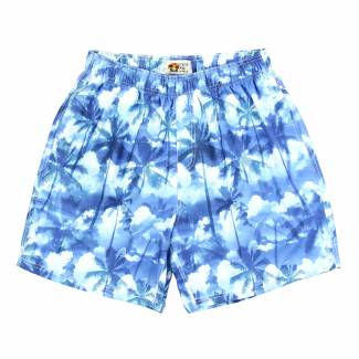 Hawaiian Print Swim Trunks Swim Shorts