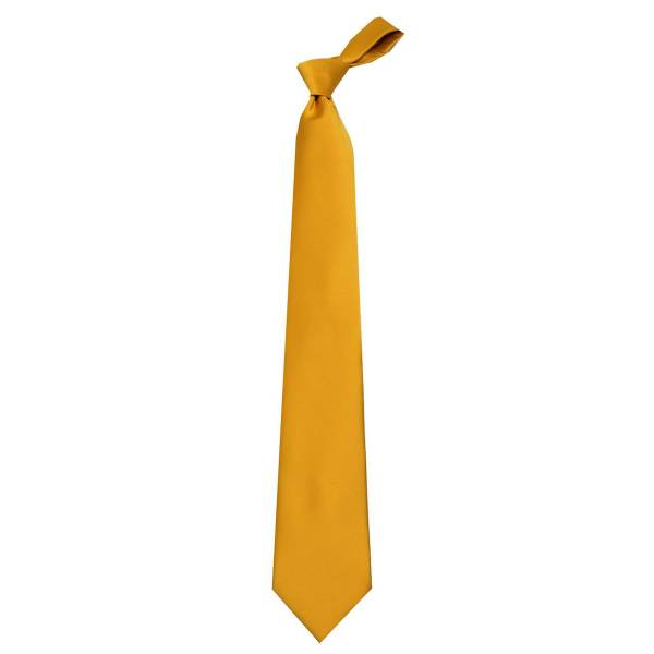 Solid Mens Tie Bronze Regular