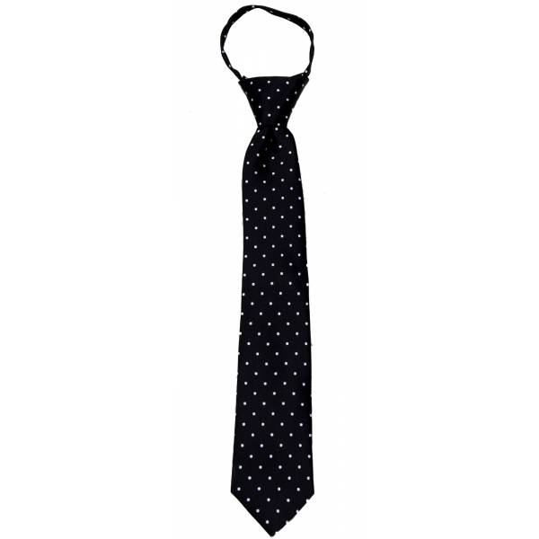 Black Boys 14 inch Zipper Tie Zipper Tie 14 inch