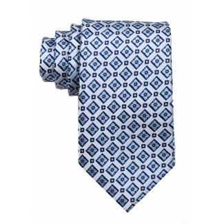 Silver Mens Tie Regular