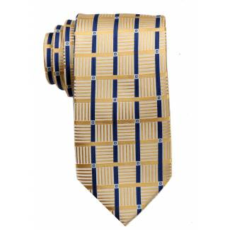 Yellow Mens Tie Regular