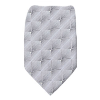 Silver Mens Tie Regular
