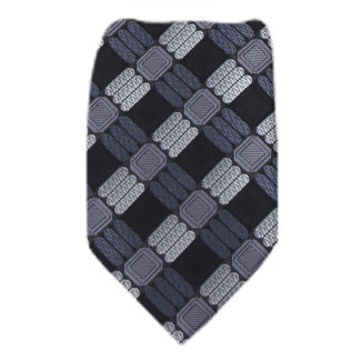 Black Mens Tie Regular
