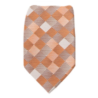 Orange Mens Tie Regular