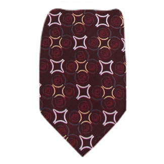 Burgundy Mens Tie Regular