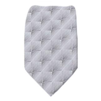 Silver Mens XL Tie Ties