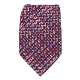 Red Extra Long Zipper Tie Zipper Ties