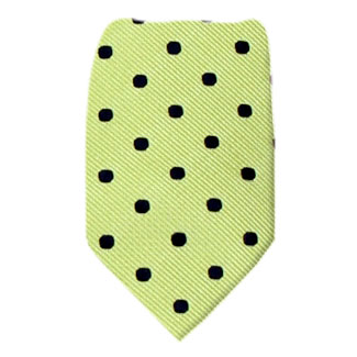 Green Zipper Tie Regular Length Zipper Tie