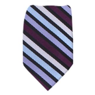 Purple Zipper Tie Regular Length Zipper Tie