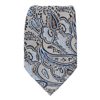 Taupe Zipper Tie Regular Length Zipper Tie