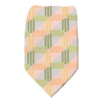 Peach Zipper Tie Regular Length Zipper Tie
