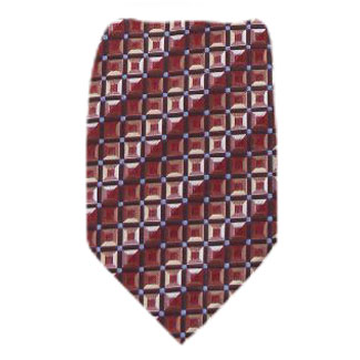 Burgundy Zipper Tie Regular Length Zipper Tie