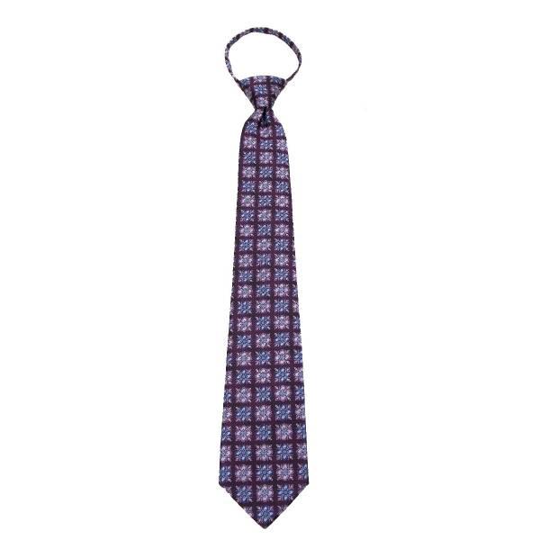 Magenta Zipper Tie Regular Length Zipper Tie