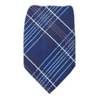 Navy Zipper Tie Regular Length Zipper Tie