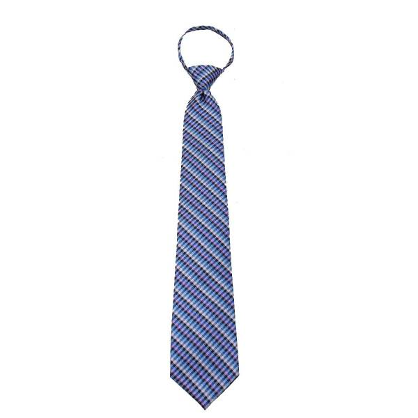 Blue Zipper Tie Regular Length Zipper Tie