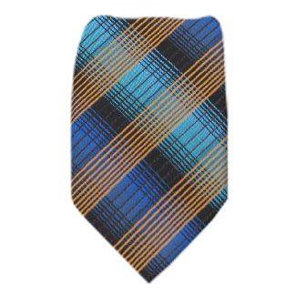 Blue Zipper Tie Regular Length Zipper Tie