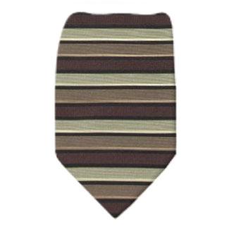Olive Zipper Tie Regular Length Zipper Tie