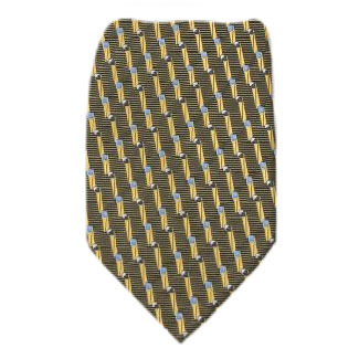 Gold Zipper Tie Regular Length Zipper Tie