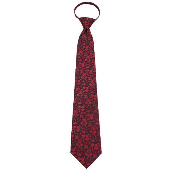 Black Zipper Tie Regular Length Zipper Tie